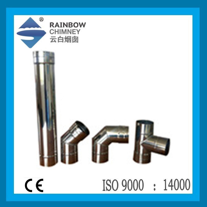 Single 80 mm Pellet Fireplace Chimney Straight Pipe, Tee, Elbow