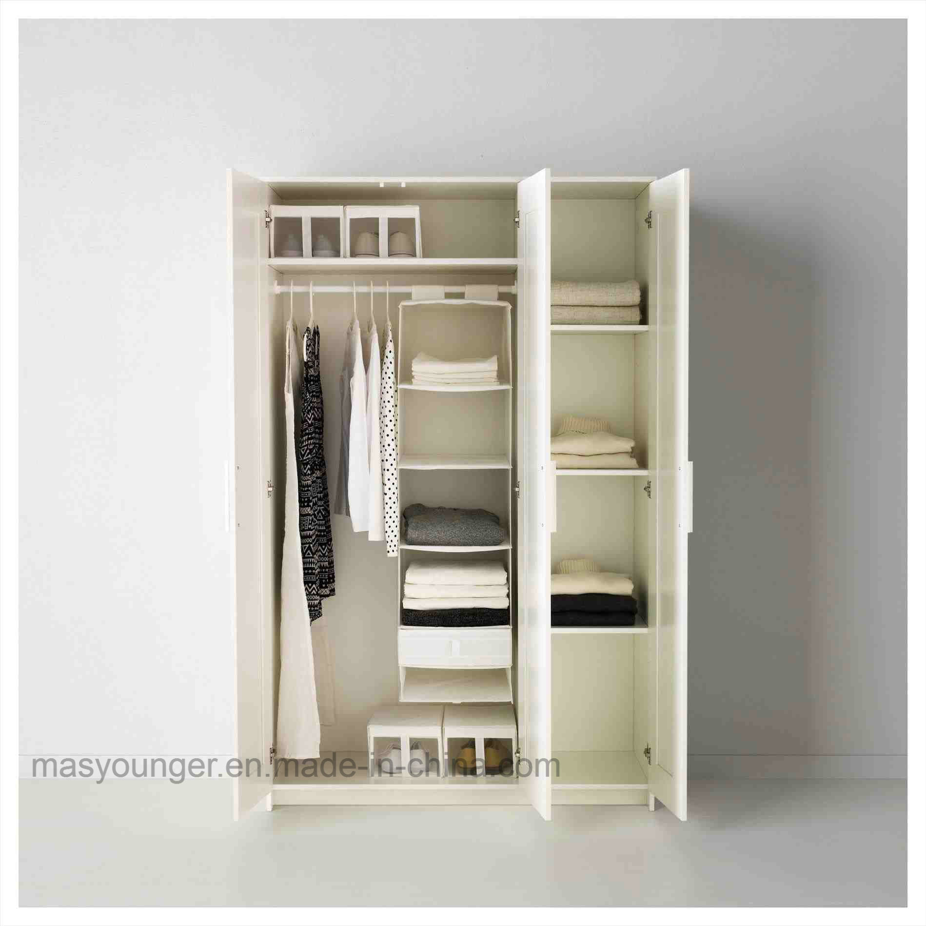 China Bedroom Customized Metal Clothing Storage Wardrobe ...