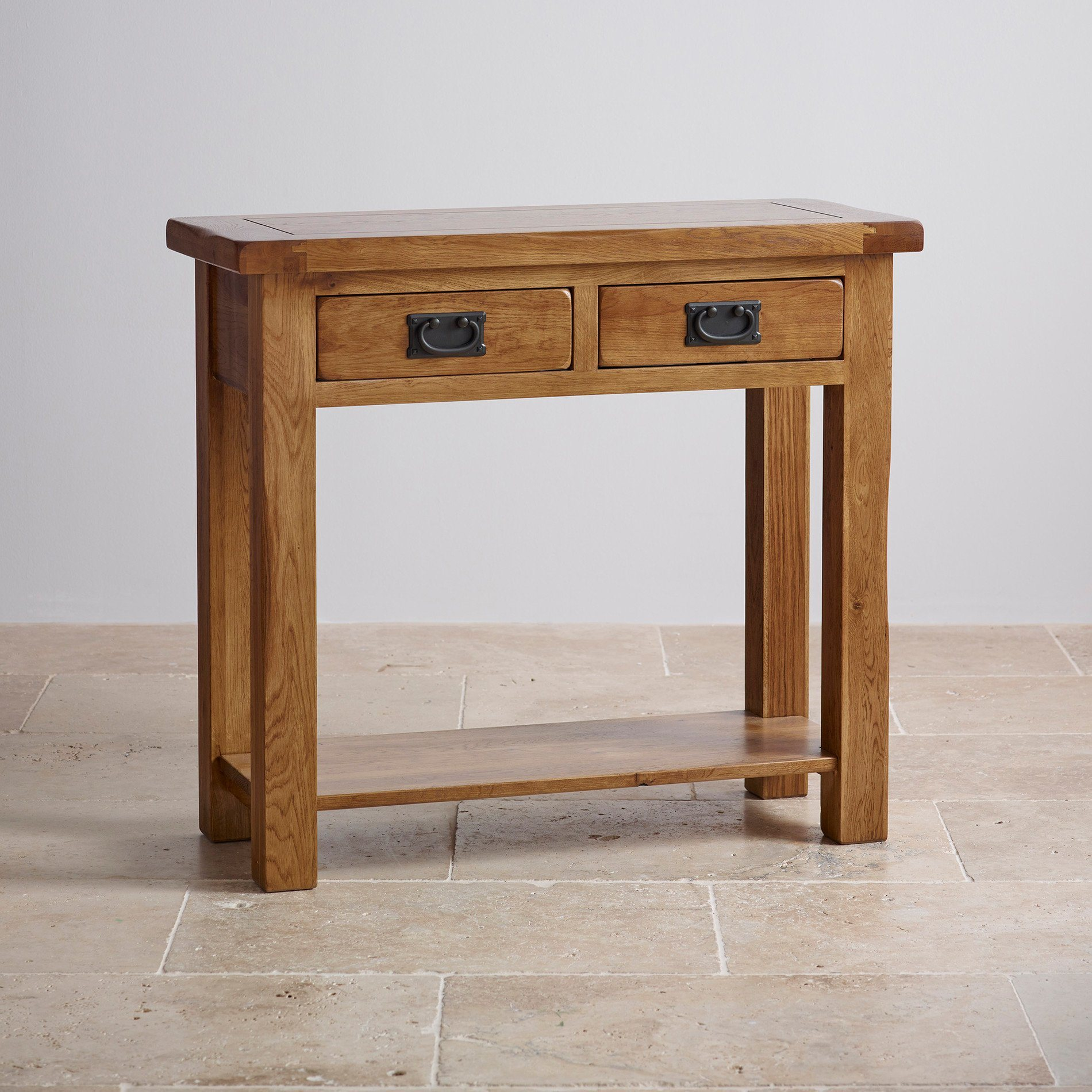 China Rustic Vintage Oak Solid Wood