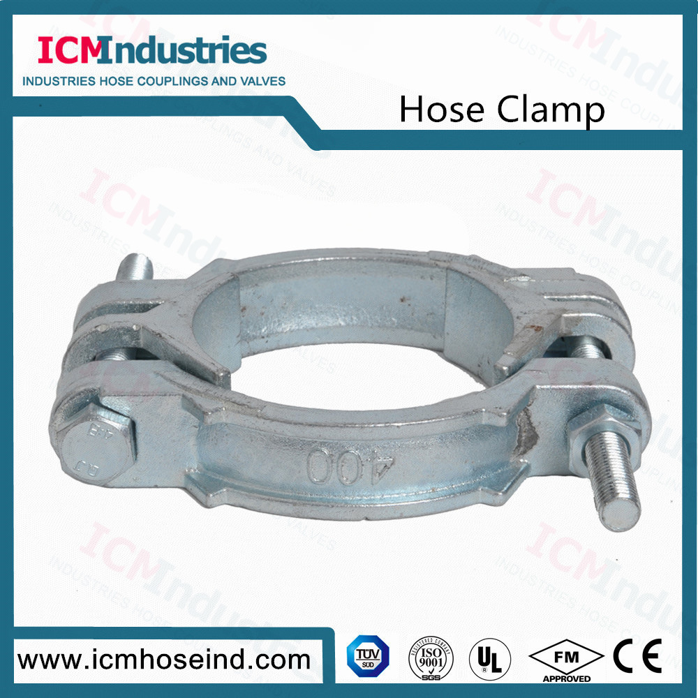 China Carbon Steel Investment Casting Double Bolts Hose Clamps ...