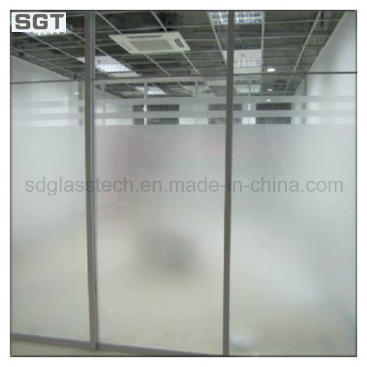 China 10mm Low Iron Acid Etched Frosted Office Partition Doors