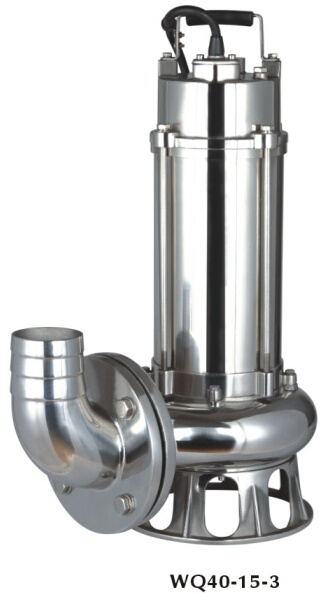 Wq Flange Stainless Steel Cast Iron Submersible Sewage Pump (WQ100-10-7.5ST)