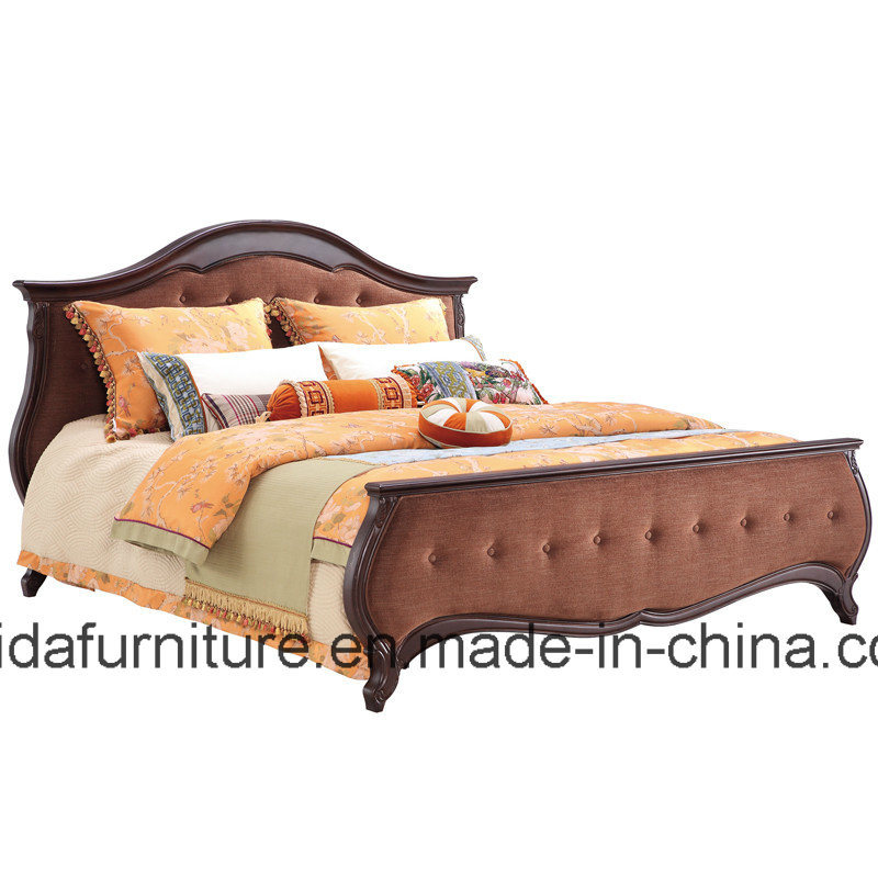 China Classical Bedroom Furniture/Fabric Bed/European Bed ...