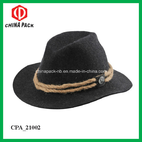 Hot Item Black Wool Felt Cowboy Hats For Men Cpa 21025
