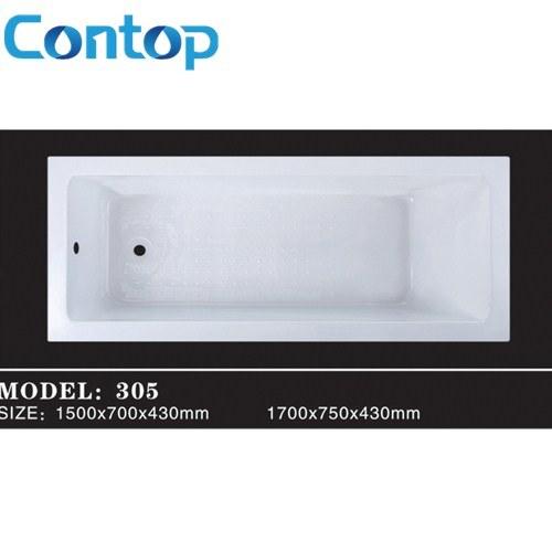 China Sanitary Ware Bathroom Acrylic Square Built-in Bathtub Insert ...