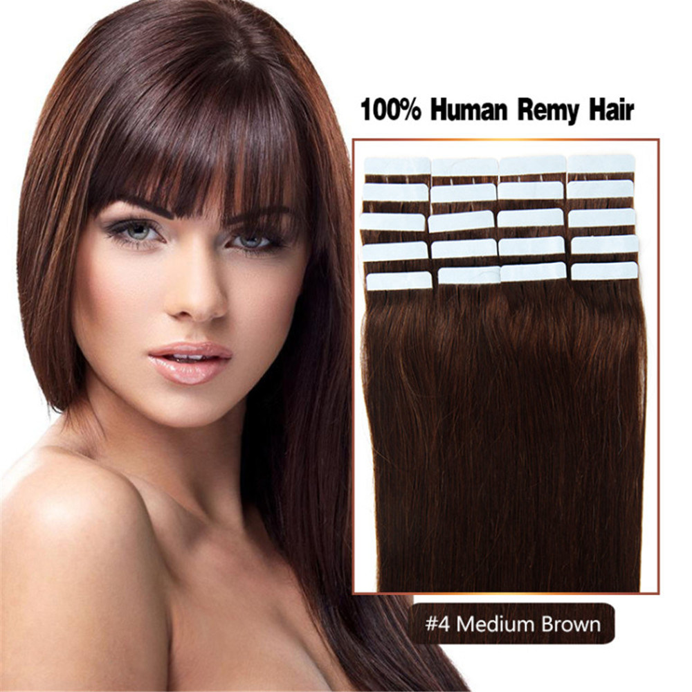 China 4 Medium Brown Tape Hair Extensions Photos Pictures Made