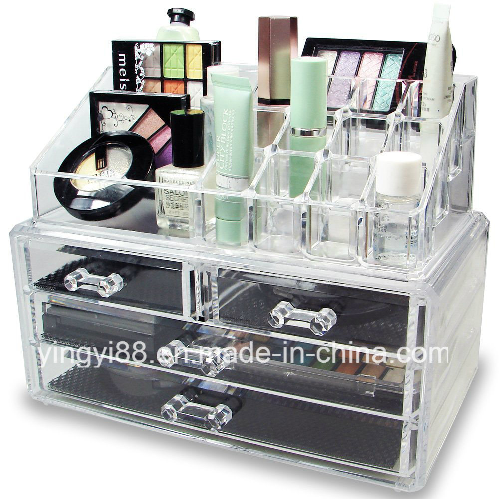 Wholesale Acrylic Jewelry & Cosmetic Storage Display Organizer Two Pieces Set pictures & photos