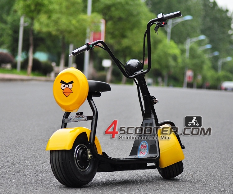 2017 New Big Wheel 500W Junior Citycoco Harley Electric Scooter