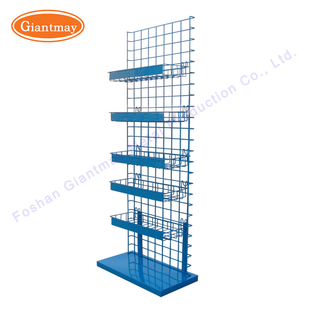 China Powder Coated Metal Retail Store Hanging Wire Grid Shelf ...