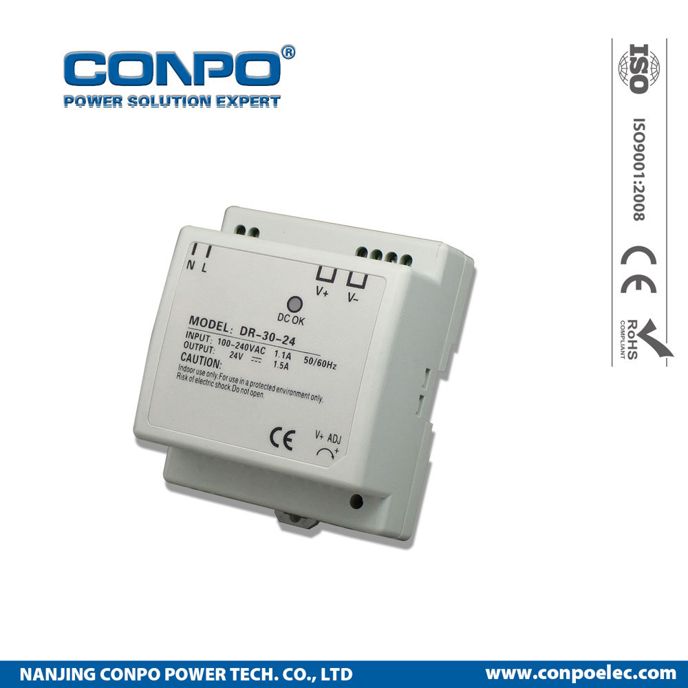 China 30w 45w 60w 5v 12v 24v 48v Din Rail Power Supply Transformerless Switching Smps