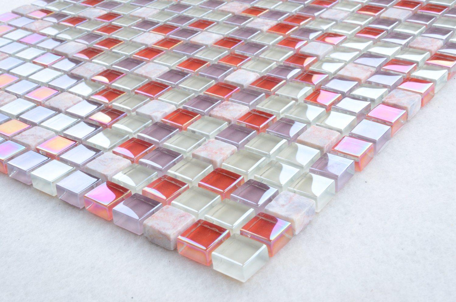 China Py002 Purple Bathroom Tiles, China Glass Stone, 30X30 Tiles ...