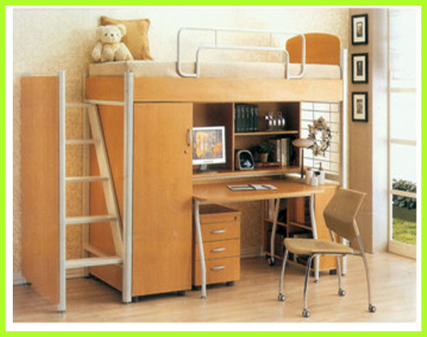 China School Student Dormitory Steel, Student Loft Bed With Desk