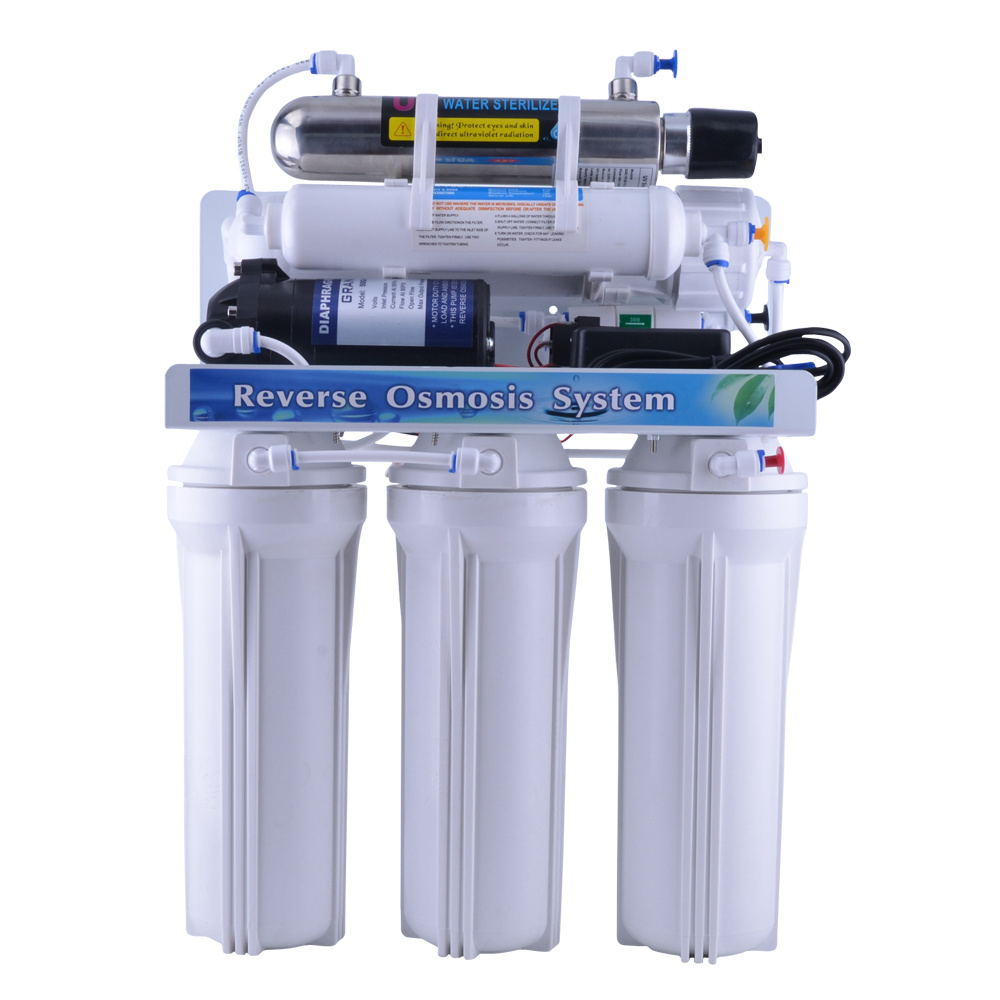China Whole Sale 5 Stage Reverse Osmosis Purifier Ro Water Filter Stages Bracket System With Uv Lamp For Home Use Domestic