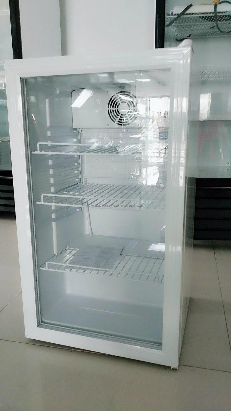 China Table Cheaper 100 Liter Glass Door Mini Bar Fridge With Cb