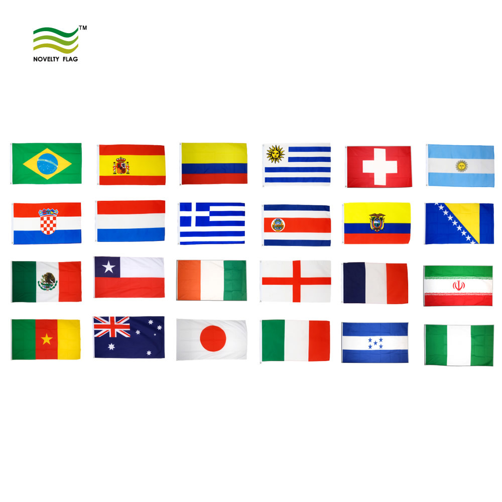 Flags of the world by continents