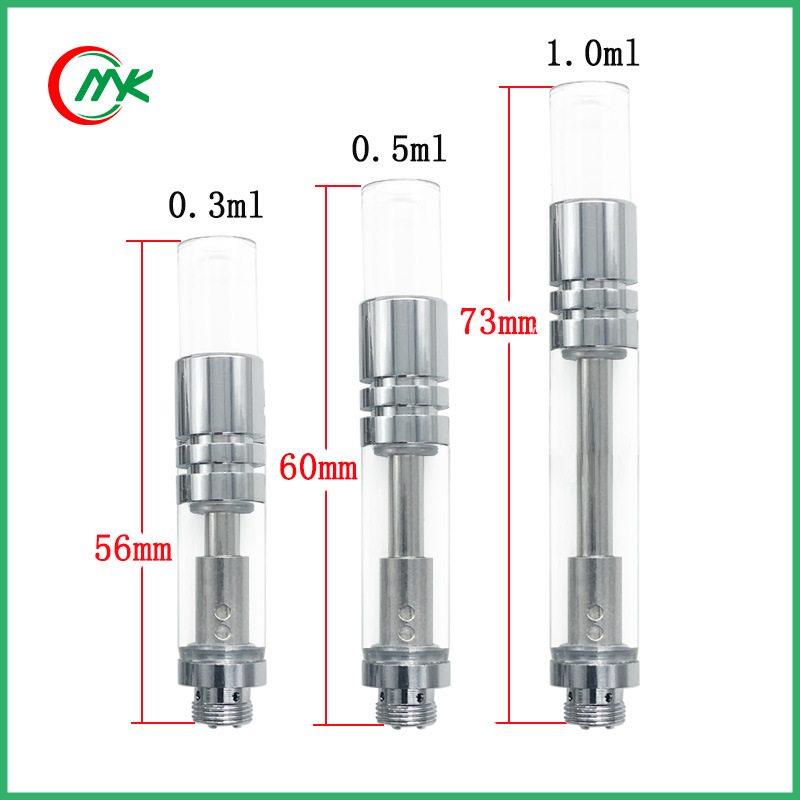 [Hot Item] Glass Round Tip Cotton Coil Cbd Atomizer Wick Cartridge
