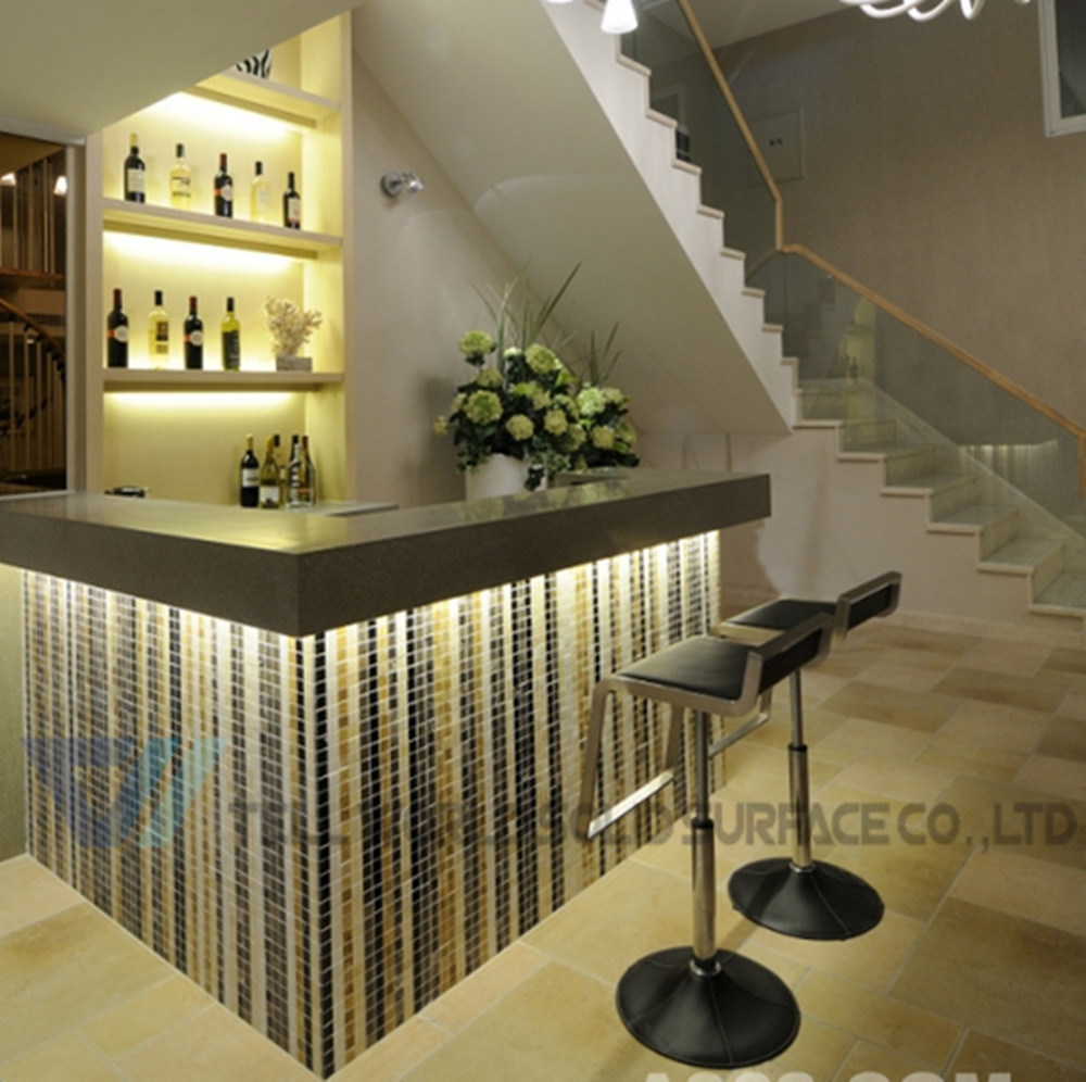 Home Bar Counter: China White Glossy Home Wine Mini Marble Juice Bar Counter