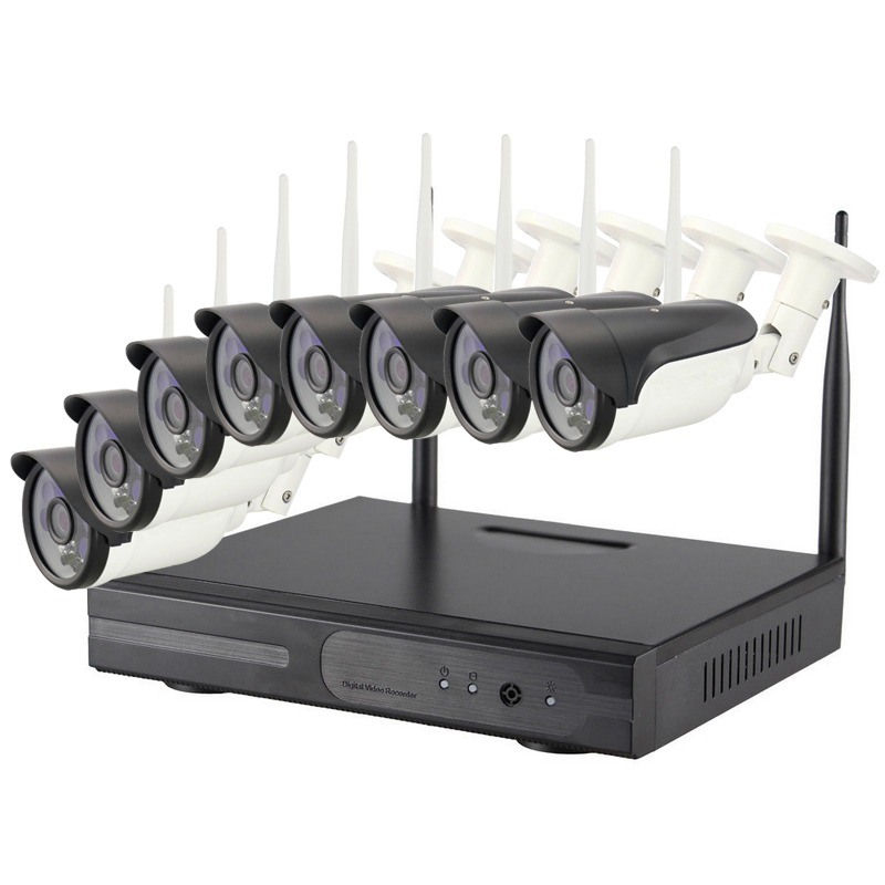HD 720p/ 960p/ 1080P Waterproof IP WiFi Outdoor CCTV Camera 8 Channel NVR Kit WiFi Camera