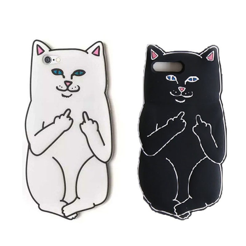 timeless design 18df7 92e02 [Hot Item] Cartoon Ripndip Lord Nermal Pocket Cat Silicone Rubber Case for  iPhone 6/6s/7plus