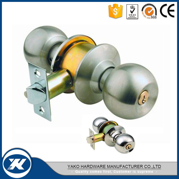 China Interior Stainless Steel Cylindrical Brass Door Knob Locks
