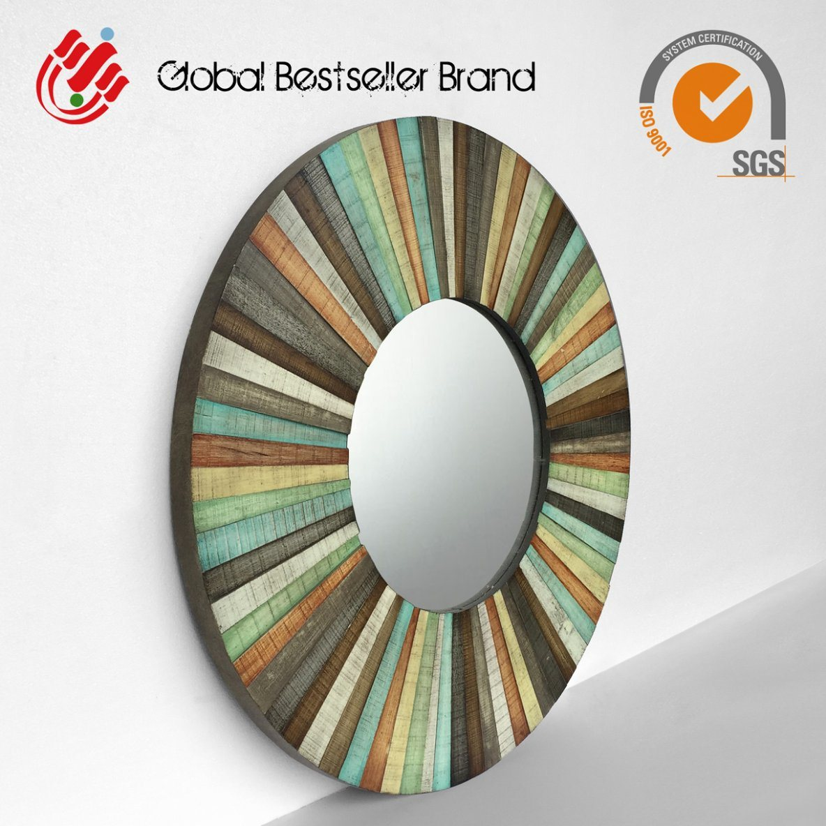 Customer Colorful Wall Mirror Handmade Mirror Art Lh M170861