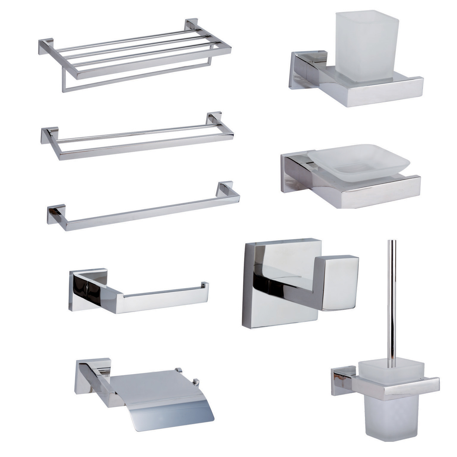 China New Square Design Stainless Steel 304 Bathroom Accessories ...