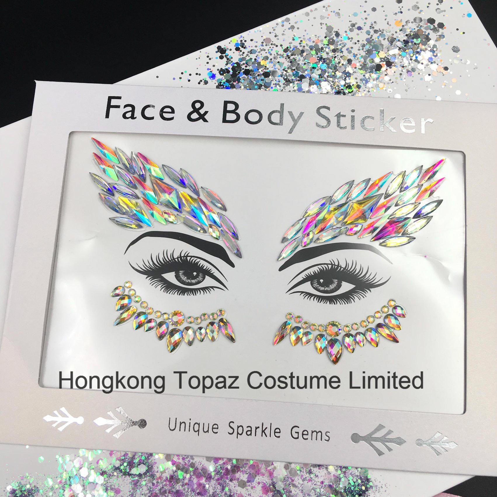 China 2018topaz popular acrylic rhinestone chest stickers body jewels face stickers e03 china body stickers body jewels sticker