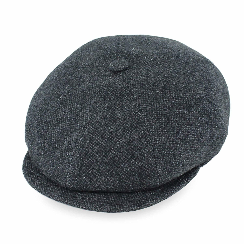 Fashion Children Kids Girls Wool Beret Hat Winter Warm Plain Beanie Newsboy Cap