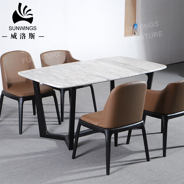 China Solid Wood Dining Table With Marble Top For Dining Room China Living Room Furniture Hotel Furniture