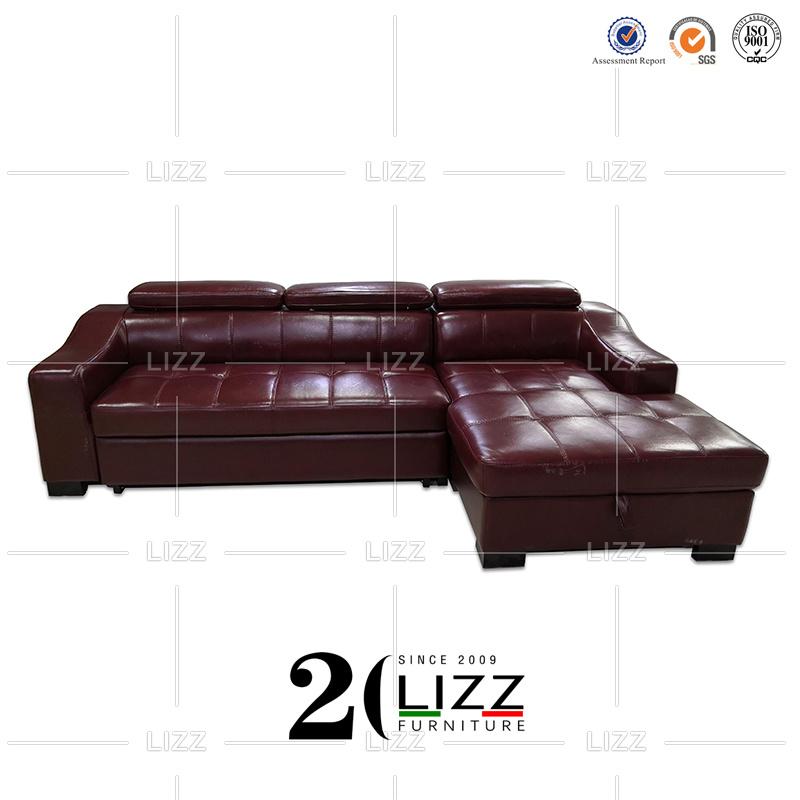 China Modern Italian Leather Sofa Bed