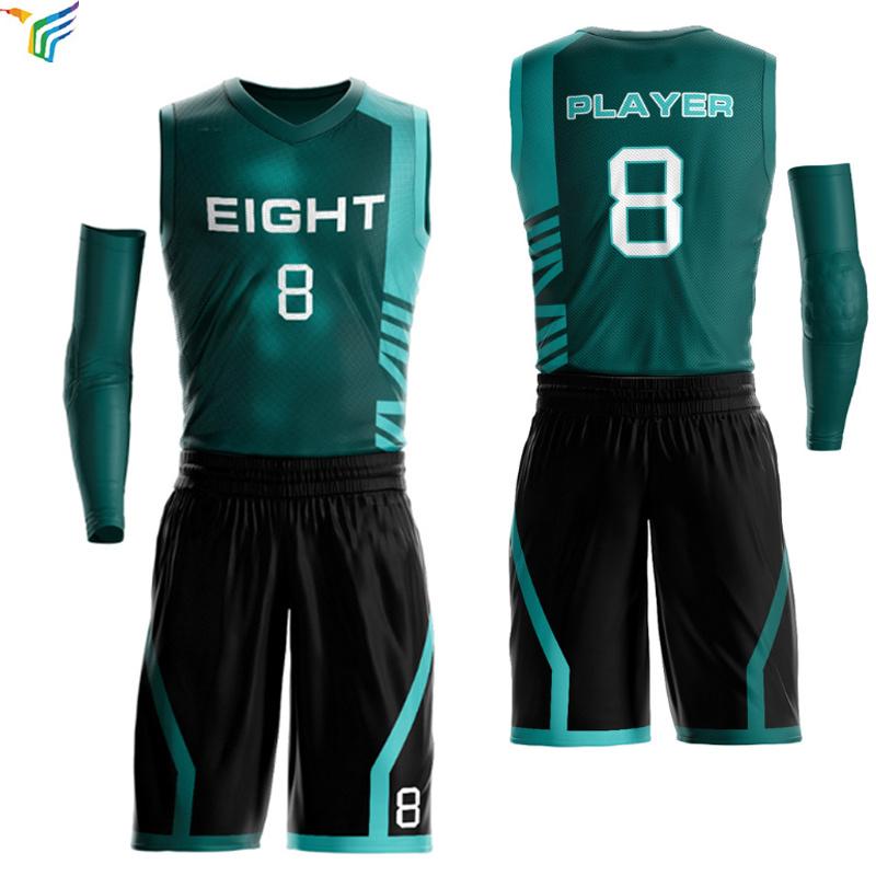 China Sublimation Custom Latest Logo Design Color Blue Green Pink 4xl Uniform Mens Basketball Jerseys China Youth Basketball Jersey Sets And Reversible Basketball Jersey Price