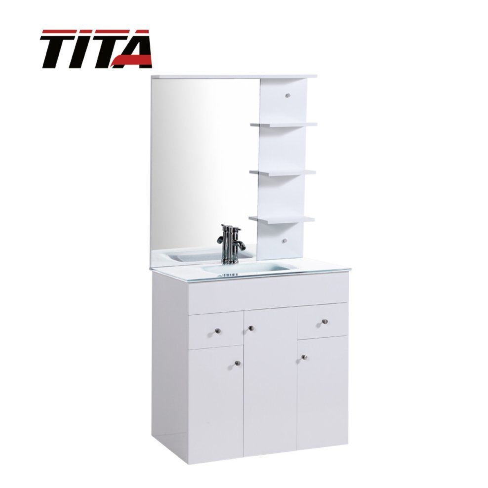 High Gloss White Mdf Bathroom Furniture