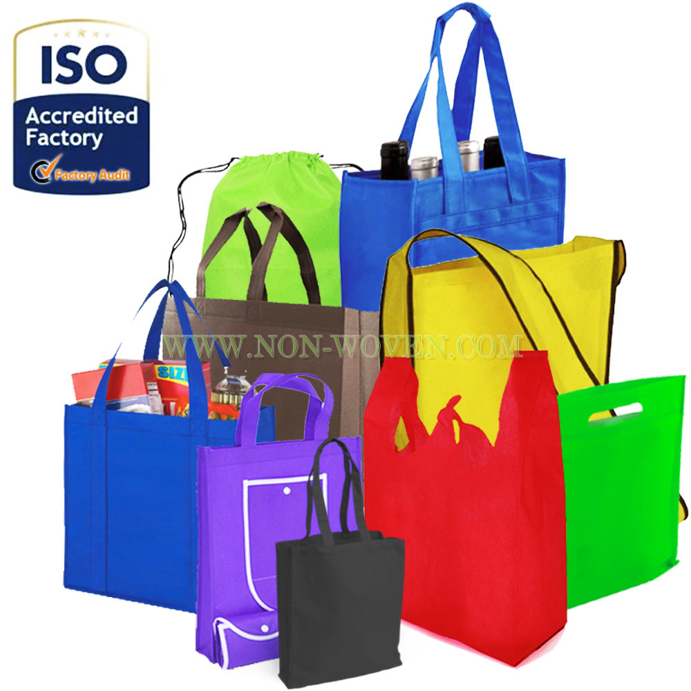 Hot Recycle Fabric Shopping Bag Non-Woven Reusable Eco Foldable Grocery Bag Tote