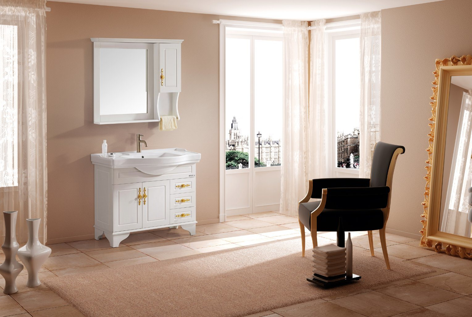 China Living Room Modern Vanity Cabinets Set Bathroom Cabinet Purchase Online Furniture Bathroom Vanity Ot1913 China Bathroom Cabinet Solid Wood