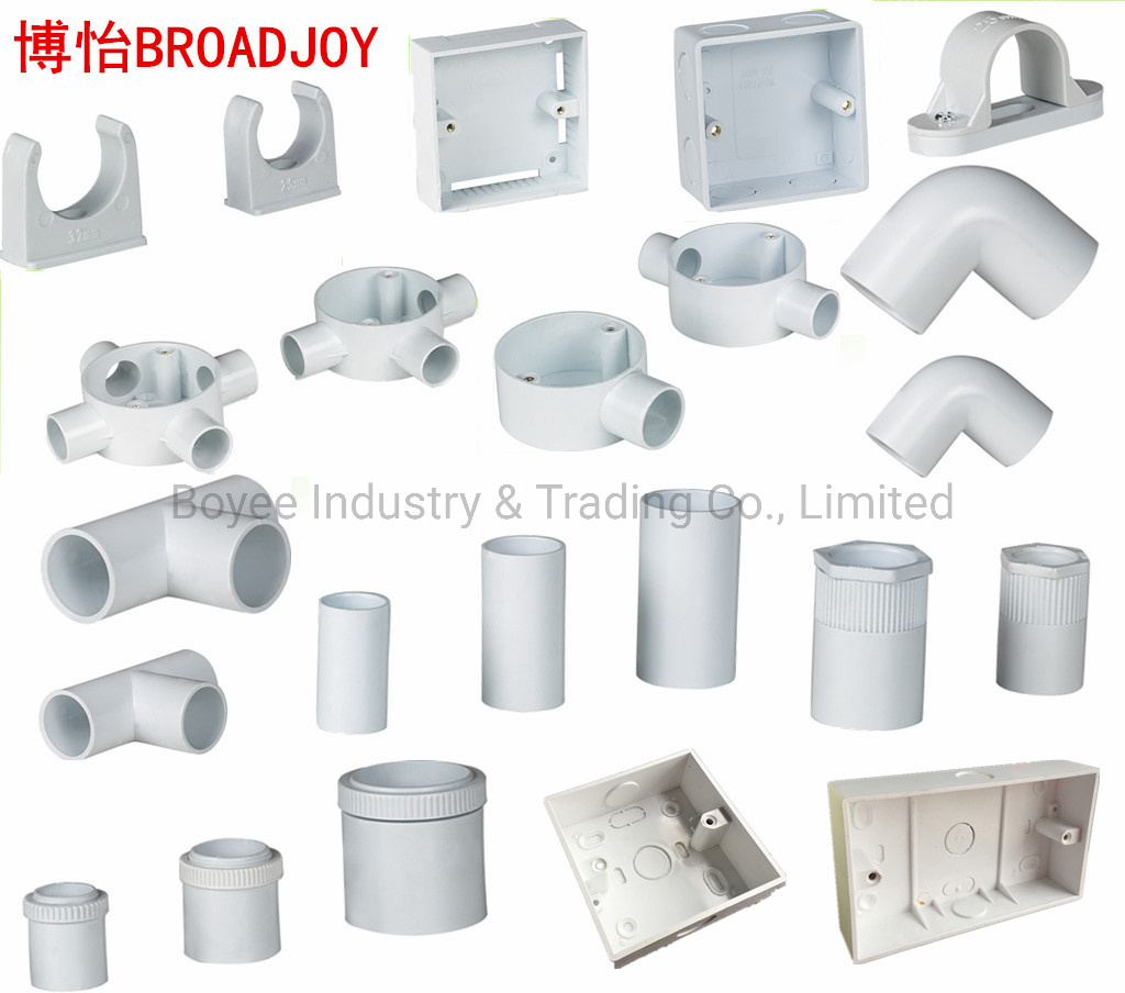 China Pvc Electrical Products Wiring Cable Duct Conduit Pipe Accessories Fittings China Accessories Fitting