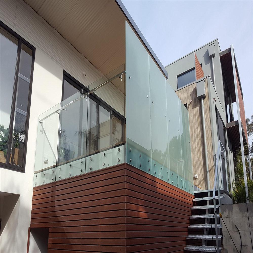 China Hot Sale Frameless Glass Railing/Wall Mounted Glass ...