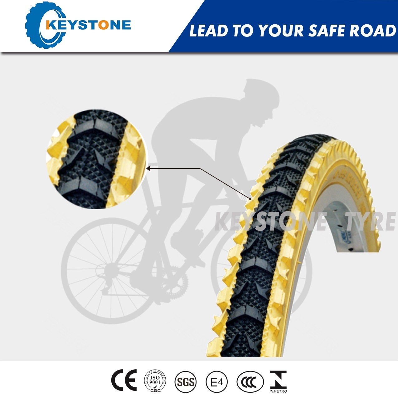 ECE Approved Mountain Bike Tire with Super Stablity 60 Tpi Casing 24X2.35