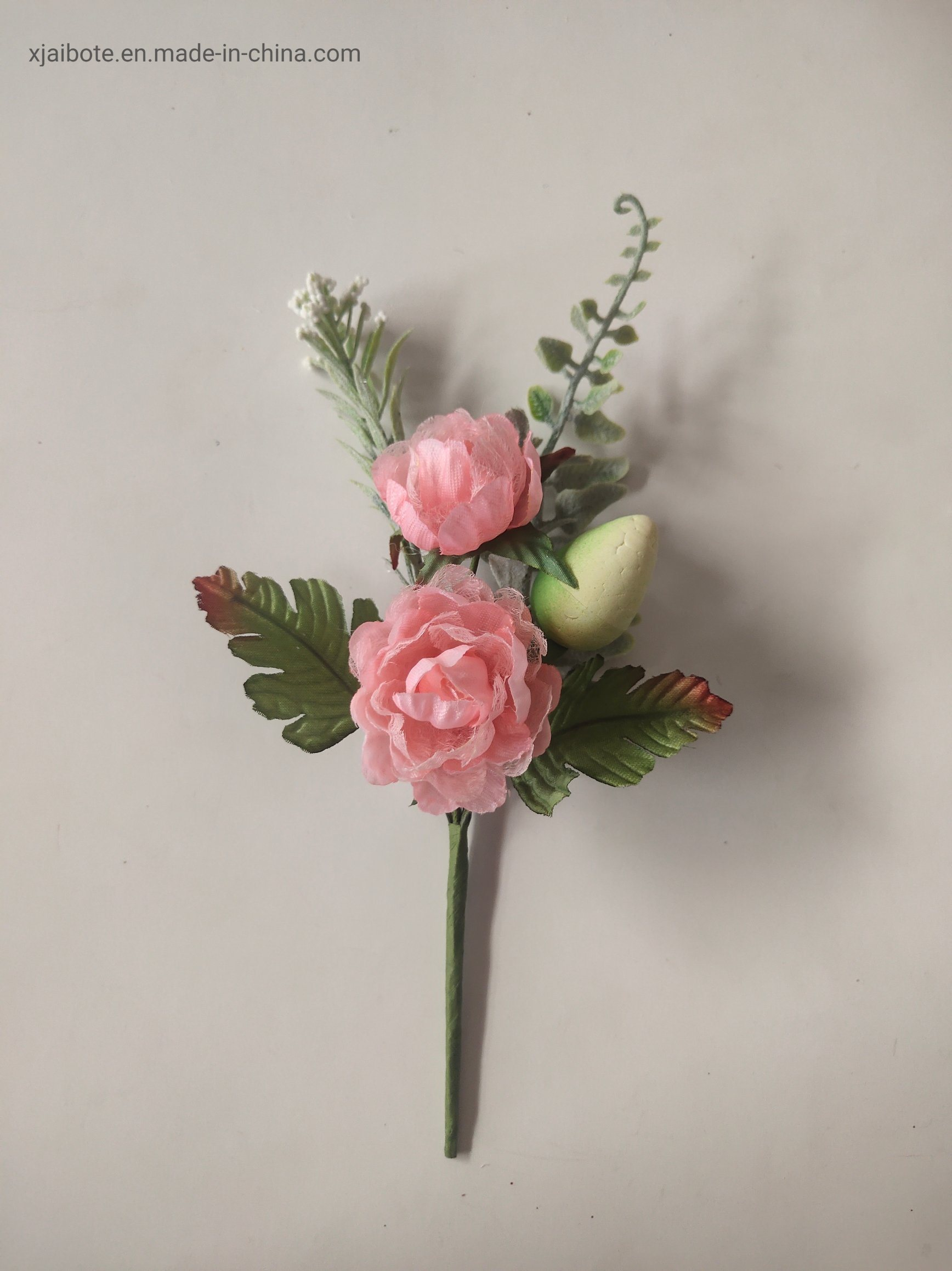 China Silk Artificial Flowers Christmas Picks Single Rose Stem Floral Ornament For Xmas Decoration China Artificial Flower And Christmas Flower Price