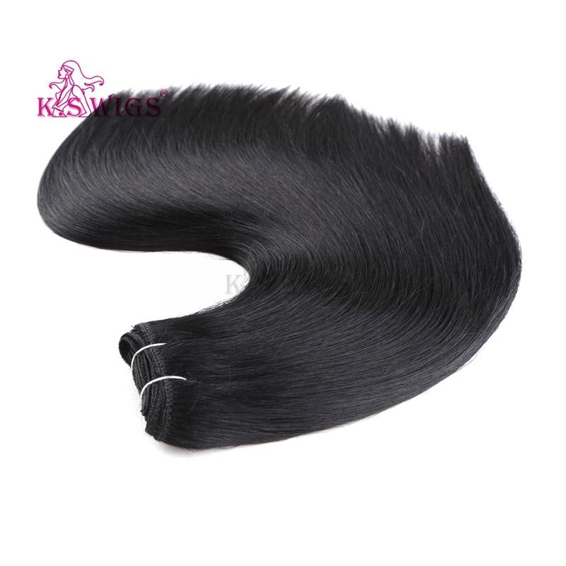 China Synthetic Hair Weft Hair Extensions Japanese Kanekalon Heat