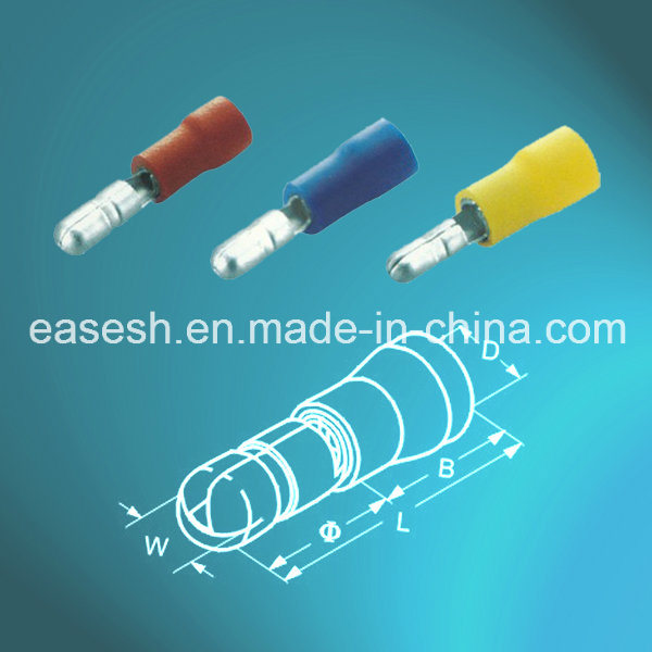 China PVC Insulated Solderless Male Bullet Connectors - China Male ...