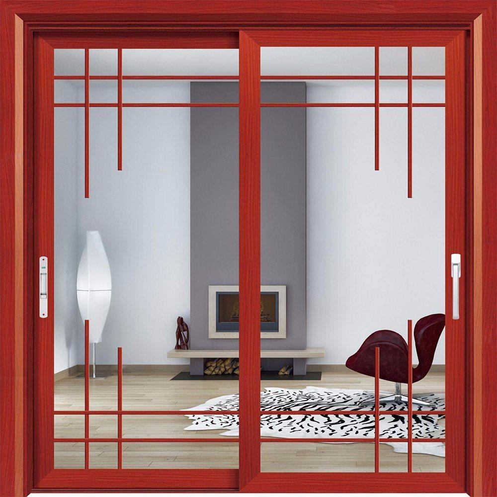 China Aluminum Triple Glass Sliding Door Price Interior Glass Door