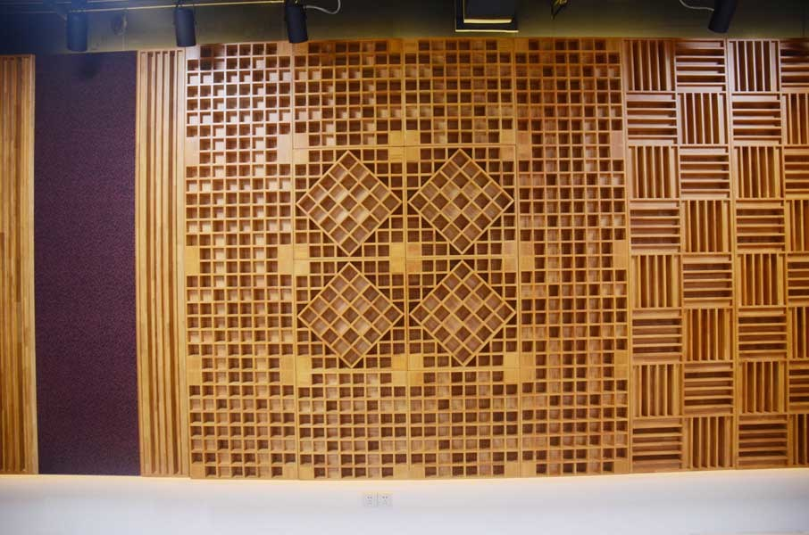 China Mdf Grooved Studio Sound Diffusers Ceiling Cheap
