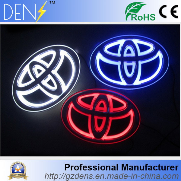 China 5d Car Logo Abs Led Badge For Corolla Camry China Led Badge