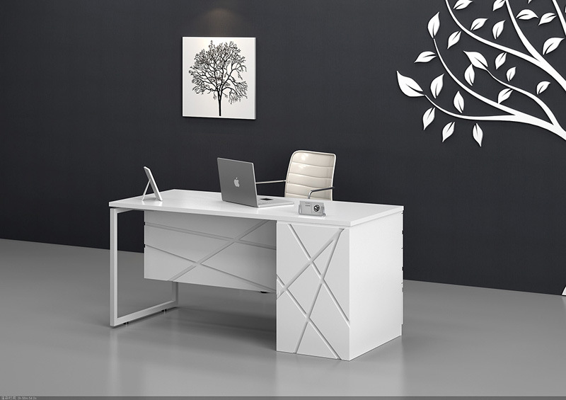 China Modern Office Desk With Stainless Steel Leg (LEDK1029 16)   China Office  Desk, Office Table