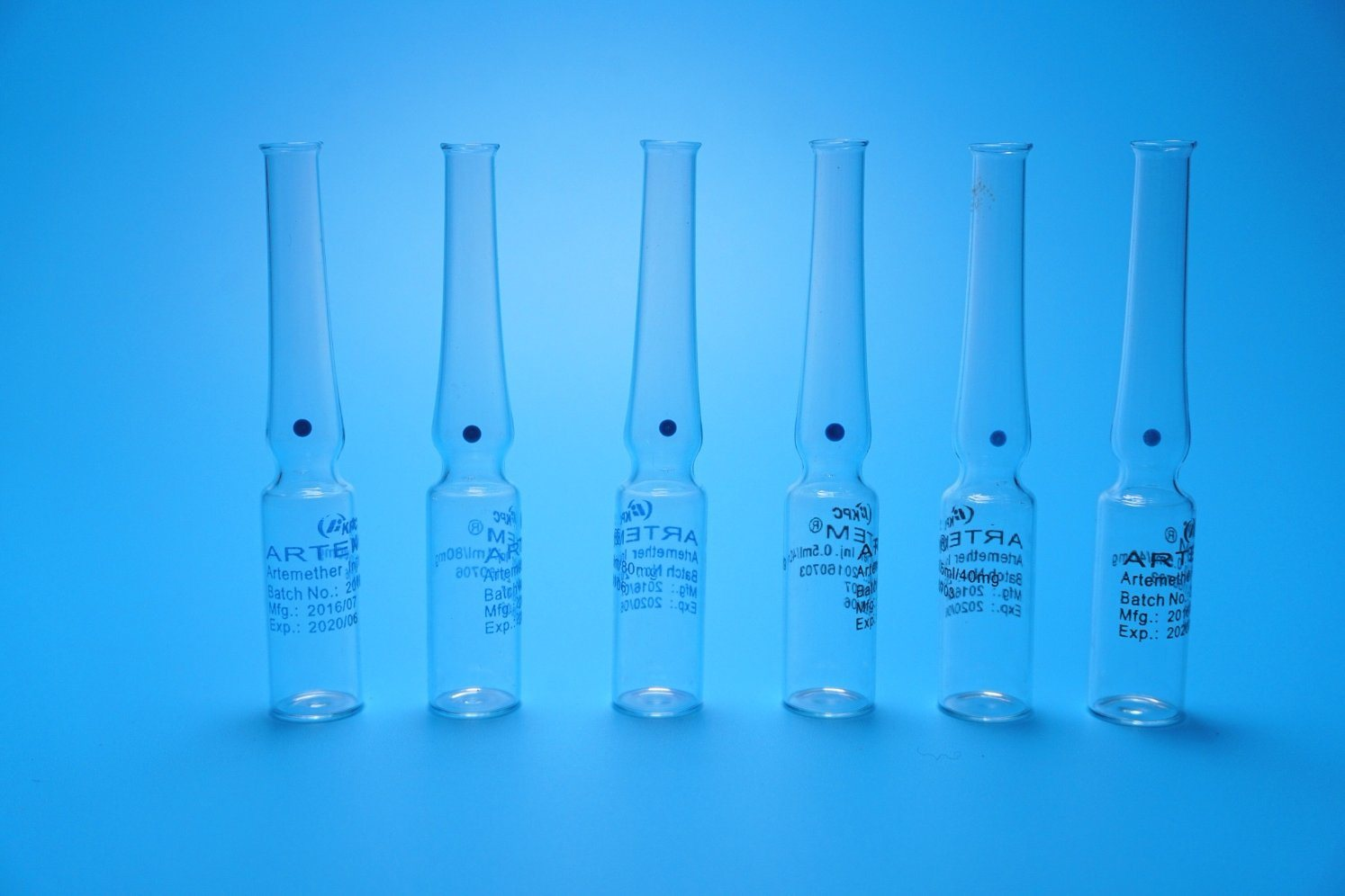 1ml Transparent Ampoule Made of Low Borosilicate Glass Printing Customized