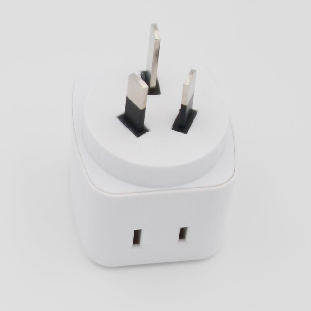 China White Travel Charger Electrical Power Us to UK/Au/EU/Brazil ...