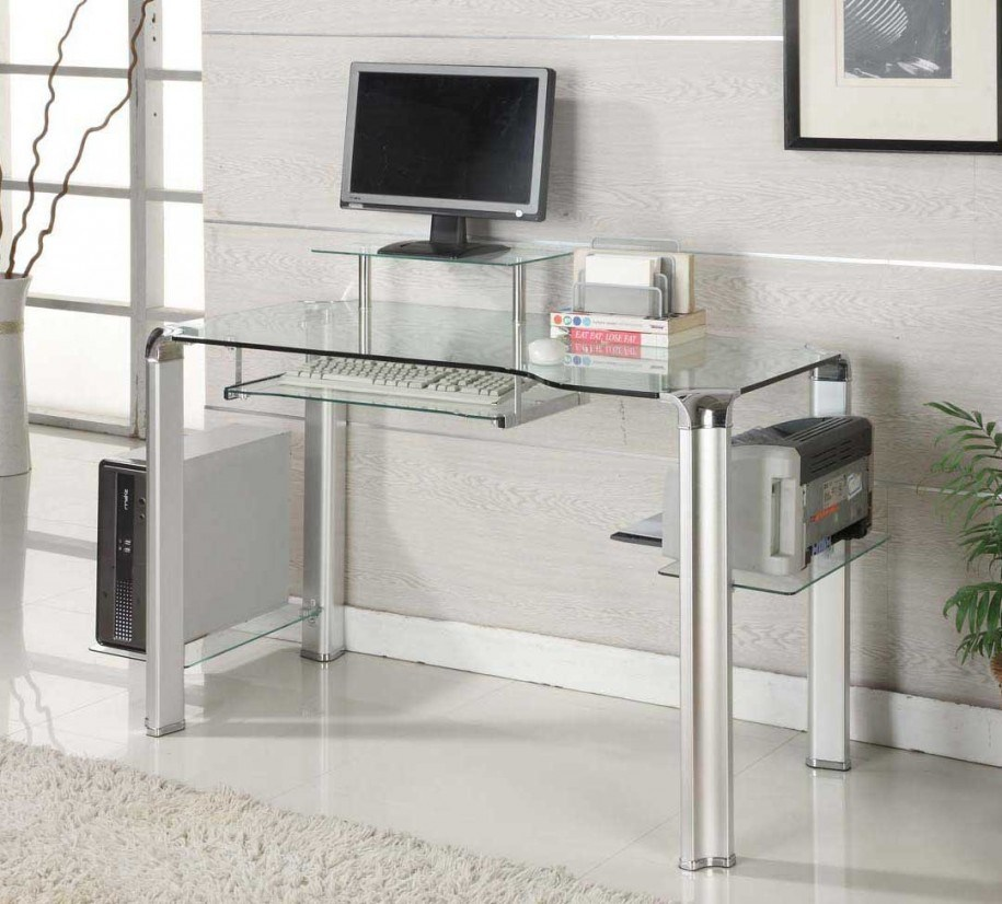 size 40 1fcae 22654 [Hot Item] Tempered Glass Computer Desk with En12150