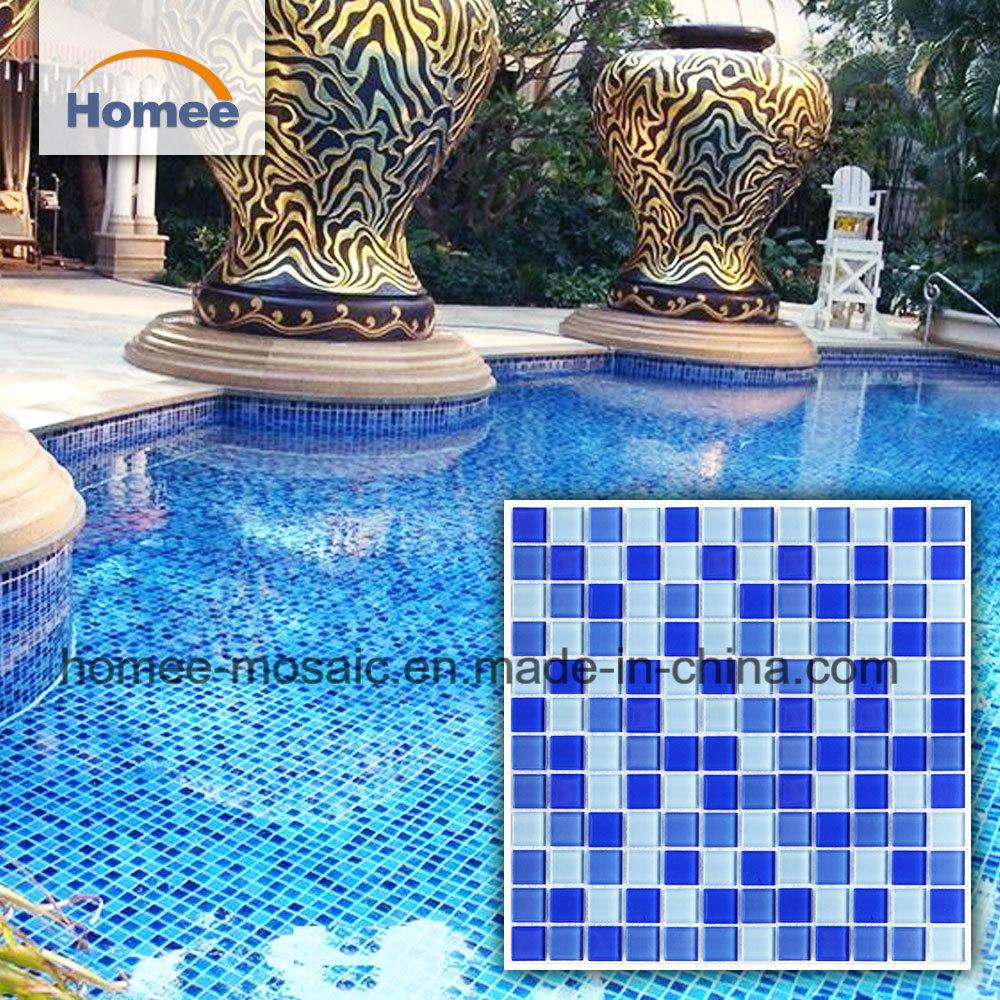 Hot Item Hot Sale Swimming Pool Blue Glass Mosaic Tiles