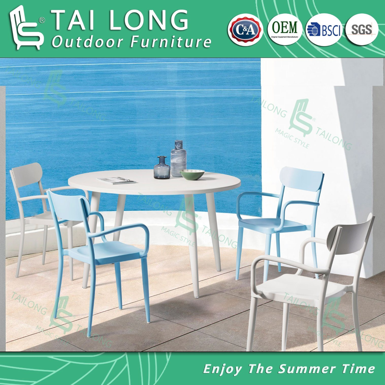 Chinese Outdoor Aluminum Dining Chair With Round Dining Table Garden Furniture China Garden Furniture Outdoor Furniture Made In China Com