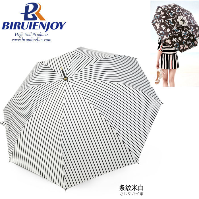 China High Quality Straight Auto Rain Sun Fashion Walking Umbrella For Lady Gifts Girls Photos Pictures Made In China Com